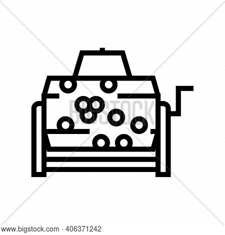 Wheel Lottery Line Icon Vector. Wheel Lottery Sign. Isolated Contour Symbol Black Illustration
