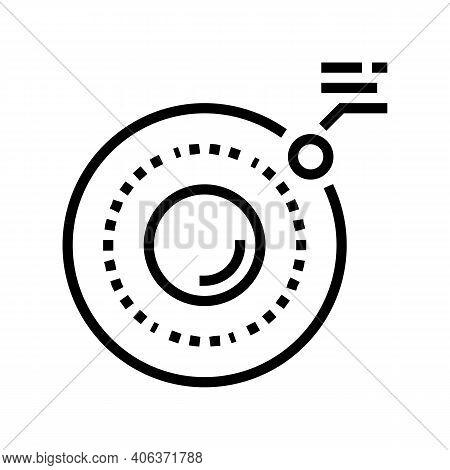 Physics Hydrogen Line Icon Vector. Physics Hydrogen Sign. Isolated Contour Symbol Black Illustration