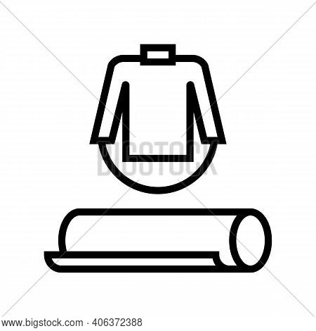 Clothing Textile Fabric Line Icon Vector. Clothing Textile Fabric Sign. Isolated Contour Symbol Blac