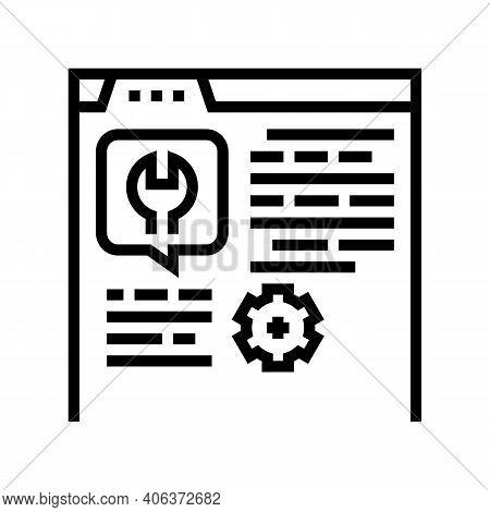 Settings Instruction Line Icon Vector. Settings Instruction Sign. Isolated Contour Symbol Black Illu