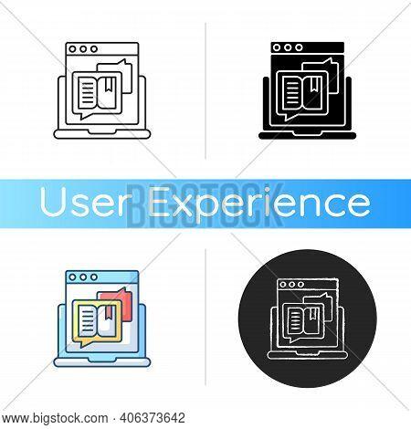 Storytelling Icon. Social Media Content. Online Visual Presentation. Internet Publication. Responsiv