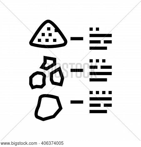 Characteristics Of Stone Line Icon Vector. Characteristics Of Stone Sign. Isolated Contour Symbol Bl