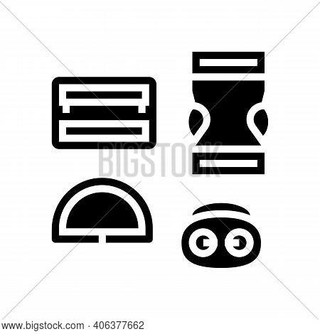 Buckles Clothes Accessories Glyph Icon Vector. Buckles Clothes Accessories Sign. Isolated Contour Sy