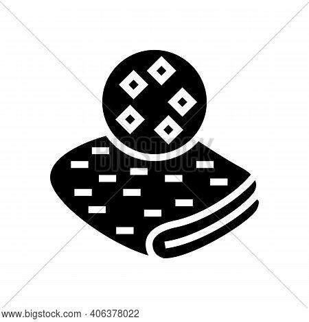 Satin Fabric Glyph Icon Vector. Satin Fabric Sign. Isolated Contour Symbol Black Illustration