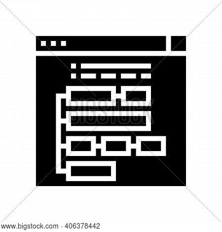 Program Hierarchy Glyph Icon Vector. Program Hierarchy Sign. Isolated Contour Symbol Black Illustrat