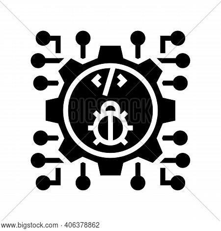 Development Debug Glyph Icon Vector. Development Debug Sign. Isolated Contour Symbol Black Illustrat
