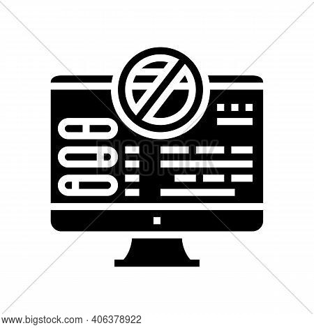 Fixing Computer Errors Glyph Icon Vector. Fixing Computer Errors Sign. Isolated Contour Symbol Black