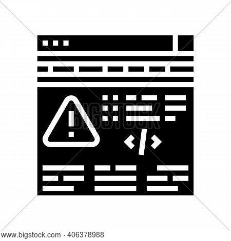 Fixing Program Errors Glyph Icon Vector. Fixing Program Errors Sign. Isolated Contour Symbol Black I