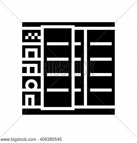 Fridge Food Shop Glyph Icon Vector. Fridge Food Shop Sign. Isolated Contour Symbol Black Illustratio