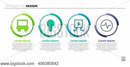 Set Fuse, Light Bulb With Concept Of Idea, Electric Transformer And Electric Circuit Scheme. Busines