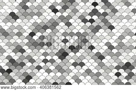 Mermaid Fish, Dragon Scales, Reptile Skin, Wave 3d Rendering. Ceramic Tile. 3d Wall Texture, Roof Ti