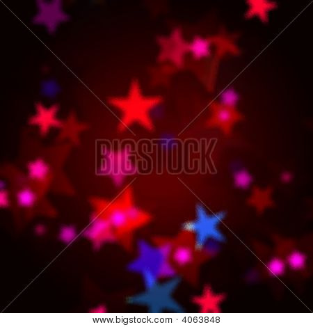 Red, Blue And Pink Stars