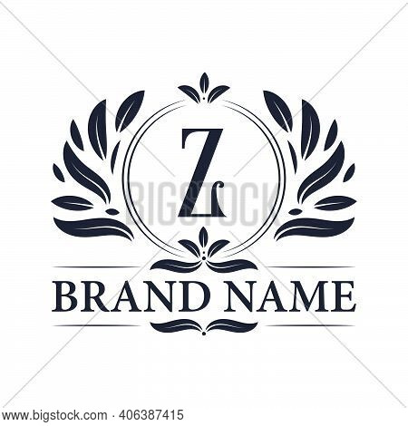 Vintage Ornamental Z Logo Design. Luxurious & Elegant Alphabet Z Letter Logo Design Template.