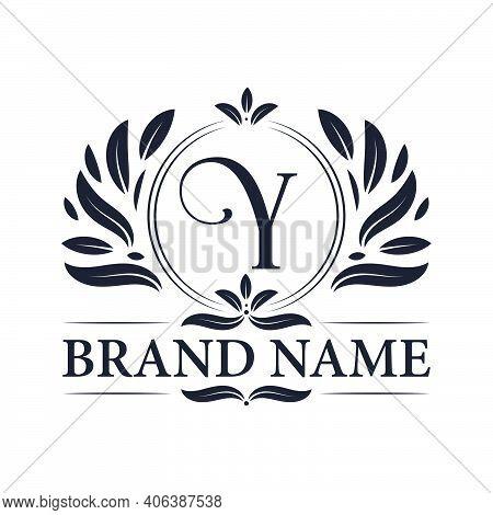Luxury Logo Design Letter Y Logo. Vintage Elegant Ornamental Alphabet Y Letter Logo Design.