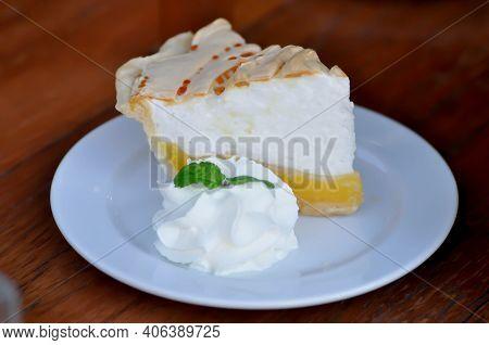 Lemon Cake Or Lemon Tart Or Lemon Meringue Cake, Lemon Meringue Tart