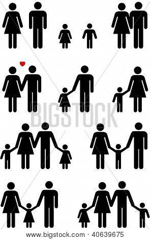 Family Icons (Man, Woman, Boy, Girl)