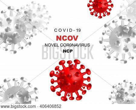 Web Web Virus Background - Microbiology And Virology Concept, Novel Coronavirus . Virus Covid 19-ncp