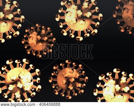 Web Virus Background - Microbiology And Virology Concept.