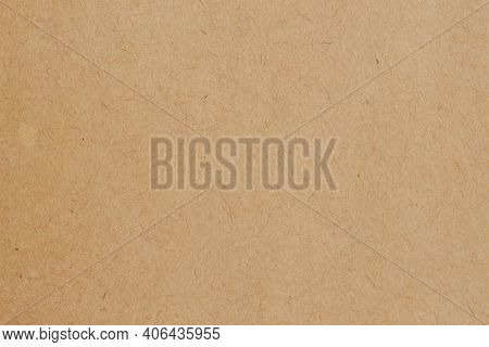 Organic Brown Paper, Cardboard, Recyclable Material, Has Small Inclusions Of Cellulose. Blank For Yo