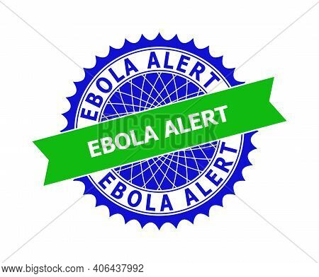 Vector Ebola Alert Bicolor Template For Watermarks With Clean Surface. Flat Clean Seal Stamp With Eb