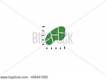 Icon Plot Area In Acres, Square Metres. Vector Dimension Area Size Icon Pictogram