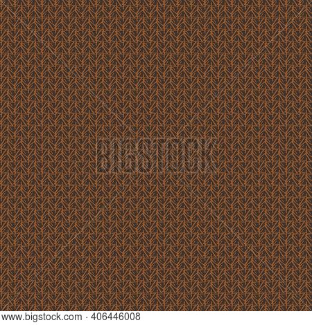 Tweed Fabric Texture Seamless Vector Pattern In Brown Colorway. Surface Print Design For Fabrics, St