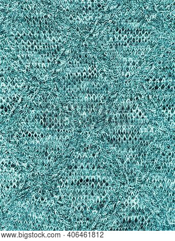 Knitted Fabric Texture. Melange Structure Of Fabric. Grunge Textile Background.