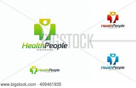 Health People Logo Designs Concept Vector, Healthy People Logo Template, People And Health Logo Temp