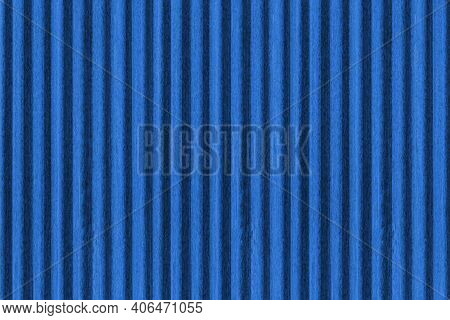 New Blue Galvanized Fence With Pattern Texture And Background Seamless