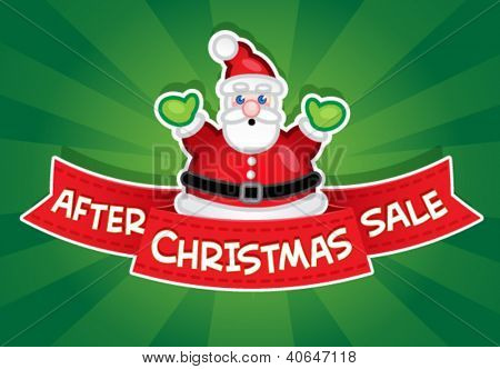 After Christmas Sale banner / Santa Claus