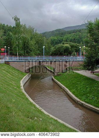 Belokurikha, Russia - August 06, 2005: View Of The Belokurikha River In The Altai Territory
