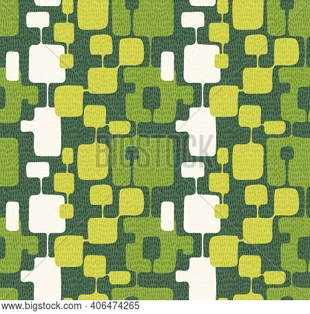 Seamless Abstract Mid Century Modern Pattern For Backgrounds, Textile Design, Wrapping Paper, Scrapb