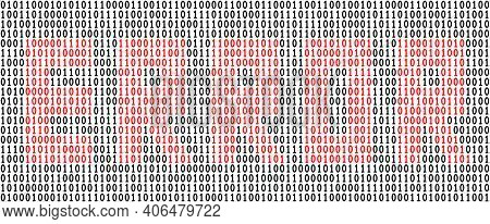 Word Error Written In Binary Code. Error Message. System Warning. Vector Illustration.
