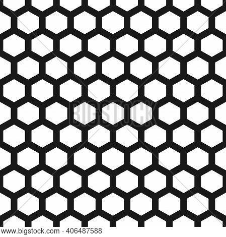 Seamless Honeycombs Or Cells Background. Hexagon Pattern. Geometric Seamless Texture. Mosaic Plaid.