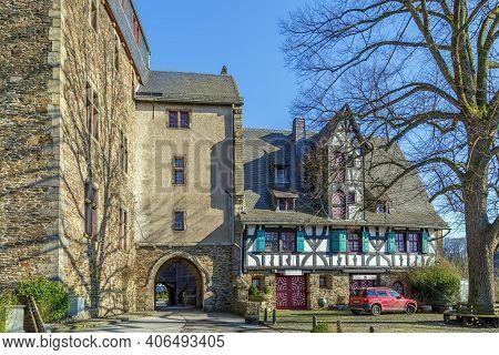 Burg Castle Located In Burg An Der Wupper (solingen) In North Rhine-westphalia, Germany.