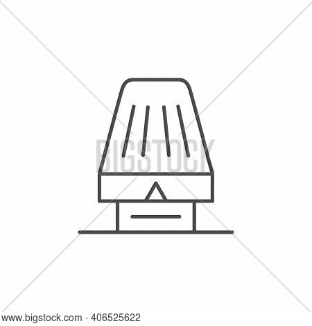 Heating Thermostat Line Outline Icon Isolated On White. Vector Illustration