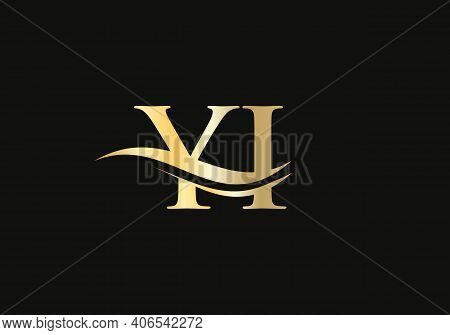 Modern Yi Logo Design For Business And Company Identity. Creative Yi Letter With Luxury Concept.