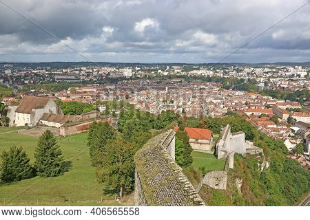 Looking Down On Besancon Town, From The Citadel