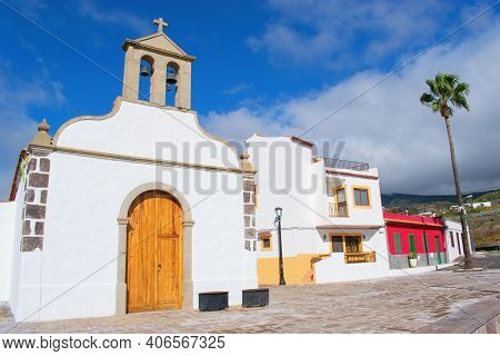 Beautiful Colorful Typical Spanish  Colonial Architecture, Tenerife, Canary Islands