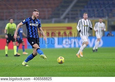 Milano, Italy. 02th Fabruary 2021 . Milan Skriniar Of Fc Internazionale  During The Coppa Italia Sem