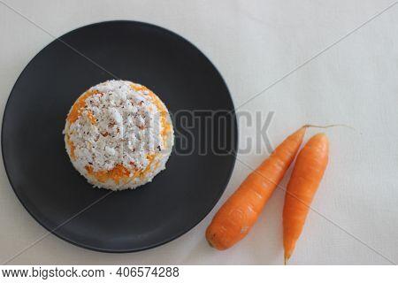 Carrot Puttu, A Variety Of Kerala Rice Steam Cake