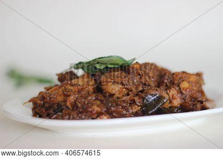Dry Gravy Chicken Roast Prepared In Kerala Style