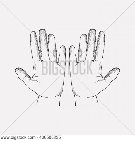 Dirty Hands Icon Line Element. Vector Illustration Of Dirty Hands Icon Line Isolated On Clean Backgr