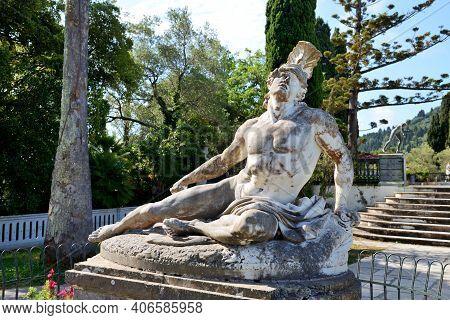 The Statue In Achilleion, Corfu Island, Greece