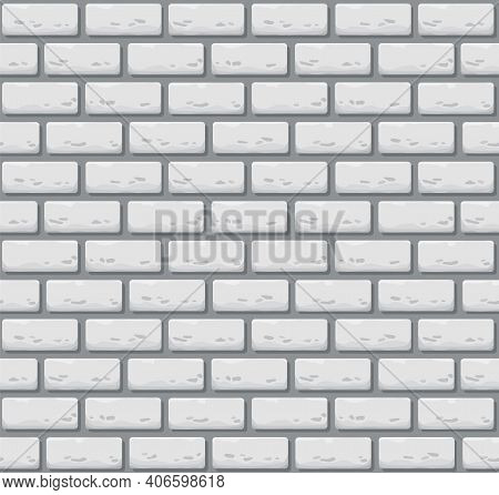 Vector Seamless Brick Wall. Realistic Color Stone Texture. Decorative Pattern For Interior Loft Styl