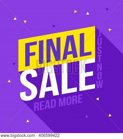 Final Sale Banner. Sale And Discounts. Design Banner, Discount Poster, Cheap Flyer, Ow Price Concept