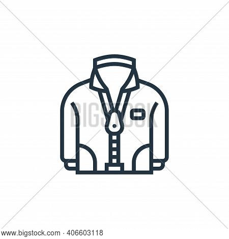 zipper icon isolated on white background from sewing equipment collection. zipper icon thin line out