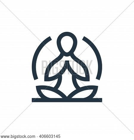 yoga icon isolated on white background from alternative medicine collection. yoga icon thin line out