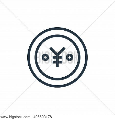 yen icon isolated on white background from finance collection. yen icon thin line outline linear yen