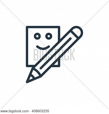 writing icon isolated on white background from school collection. writing icon thin line outline lin